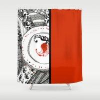 ukraine Shower Curtains featuring Mood of Ukraine by rusanovska