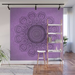 Mandala on Light Purple Wall Mural