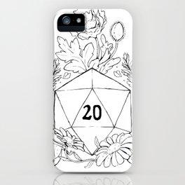 Plant Secrets: D20 iPhone Case