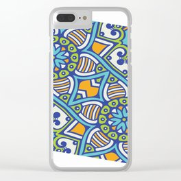 Mandala Geometrico Clear iPhone Case