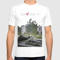 Converse It MEDIUM White Mens Fitted Tee