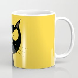 The angry cat print, animal cartoon design Coffee Mug