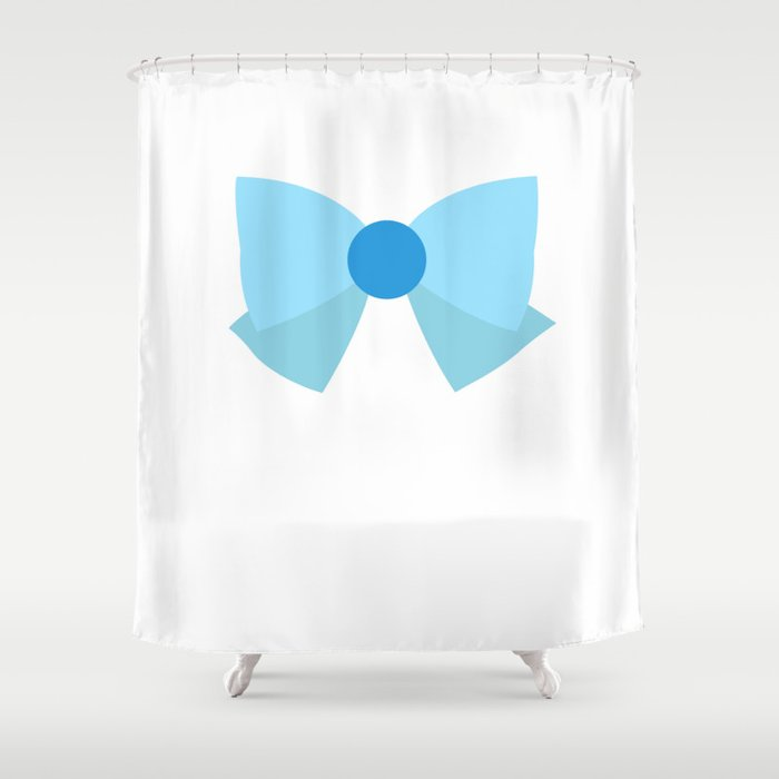 Sailor Mercury Bow Shower Curtain by ejstupid | Society6