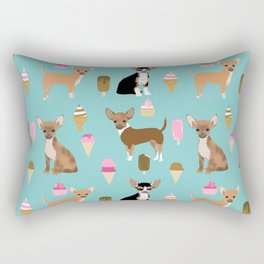 Chihuahua ice cream sweet treat summer food dog breed dogs pets Rectangular Pillow