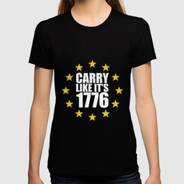 Short American Revolution Carry 1776 US History T-shirt