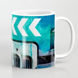 Road Roller Chevron 03 - Industrial Abstract (everyday 19.01.2017) Coffee Mug