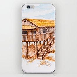 Old beach house iPhone Skin