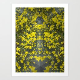 Mustard Rising Art Print
