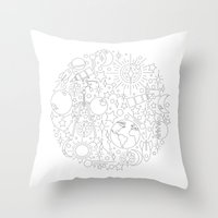 astronomy Throw Pillows featuring Astronomy by Jordan Moyer