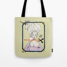 CUT HERE Tote Bag