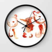bears Wall Clocks featuring Bears by 5CUZ1