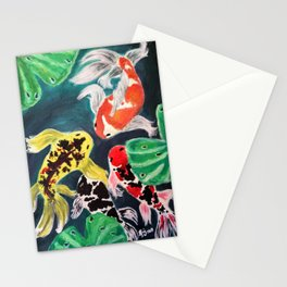 Meeting by the Lotus Stationery Cards