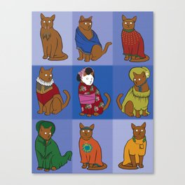 The Nine Lives of Felis Catus Canvas Print