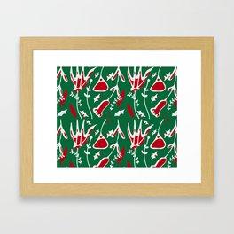 winter floral green Framed Art Print