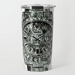 Cowhide Background Diamond Watch Travel Mug