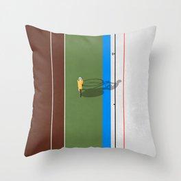 Cycling Sprinter  Throw Pillow