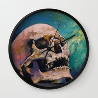 fullmetal alchemist Wall Clocks featuring The Alchemist by Michael Creese