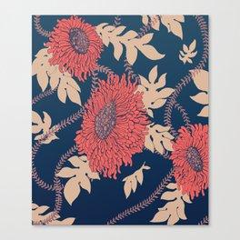 Fictitious Floral Print Canvas Print