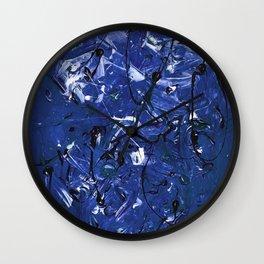 Blue Chaos Wall Clock