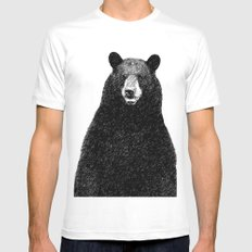 Bear MEDIUM Mens Fitted Tee White