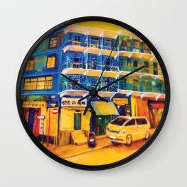 blue house (hong kong) Wall Clock