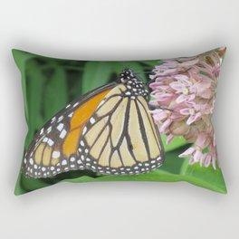 Monarch and Milkweed Rectangular Pillow