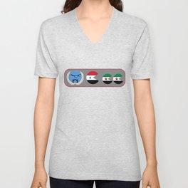 United Nations is watching Syria Unisex V-Neck