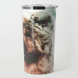 Chow Chow Digital Watercolor Painting Travel Mug