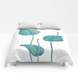 Adder's tongue fern painting Comforters