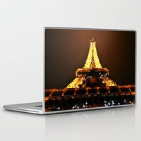 eiffel tower Laptop & iPad Skins featuring Eiffel Tower by Veronica Ventress