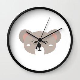 Happy Koala head Wall Clock