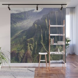 Helicopter View of Heaven in Hawaii Wall Mural