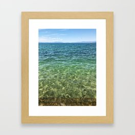 Keep Tahoe Ombre Framed Art Print
