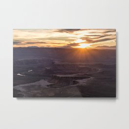 Island in the Sky Sunset I Metal Print