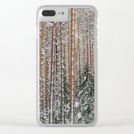 Winter in the wildwood. Clear iPhone Case