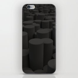 Pattern of black cylinders iPhone Skin