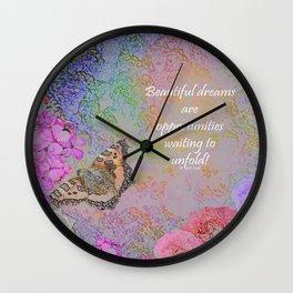 Beautiful Dreams Wall Clock