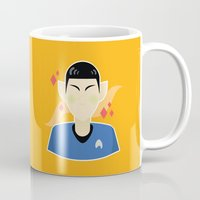 spock Mugs featuring spock by monsternist
