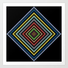 Colorful Geometric Pattern VI Art Print