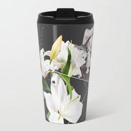 Tropical Flowers & Geometry II Travel Mug