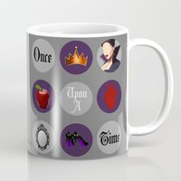 regina mills Mugs featuring Once Upon A Time, Regina Mills by Your Friend Elle