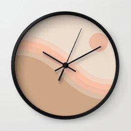 Soft Light Hillside Wall Clock