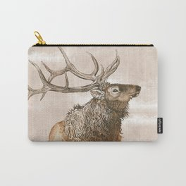 Misty Morning Elk Carry-All Pouch
