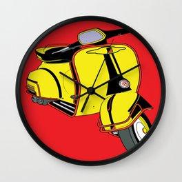 Motorino Giallo Wall Clock