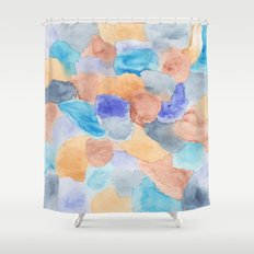Seaglass Mosaic Shower Curtain