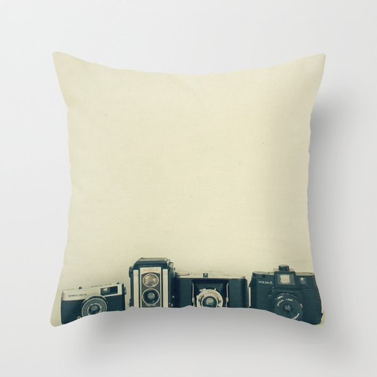 Camera Collection Throw Pillow