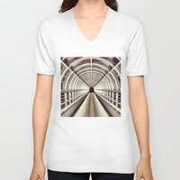 bridge V-neck T-shirts featuring Bridge by BarWy