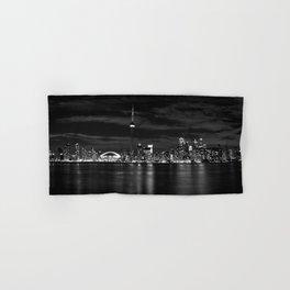 Toronto Skyline, Monocrome Hand & Bath Towel