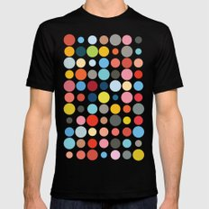 Tangled Up In Colour Black MEDIUM Mens Fitted Tee