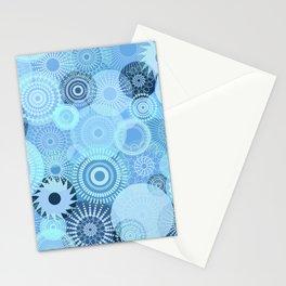 Kooky Kaleidoscope Pretty Blues Stationery Cards